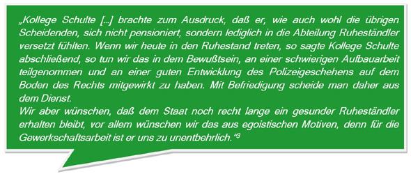 Anmerkung von Fritz Schulte zum Ruhestand