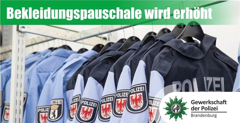 Bekleidungspauschale Steigt Auf 250 Gewerkschaft Der Polizei