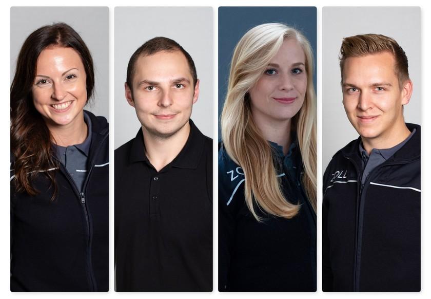 Der Vorstand der JUNGE GRUPPE – Zoll: Michaela Wohlmuth (Vorsitzende), Linas Eisner, Luise Muskulus und Marcel Felder